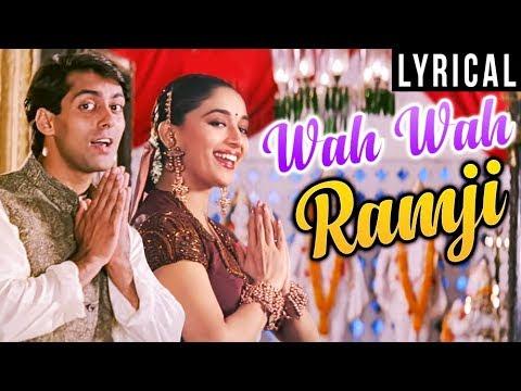 Wah Wah Ramji Full Song LYRICAL  Lata Mangeshkar  S P B  Hum Aapke Hain Koun