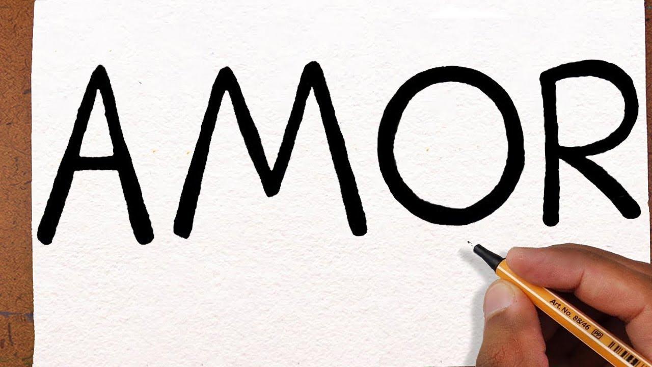 Desenhos De Amor Para Namorado: Como Transformar A Palavra AMOR Em Um Desenho, Dia Dos