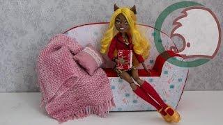 Как сделать диван для кукол. How to make sofa for dolls.