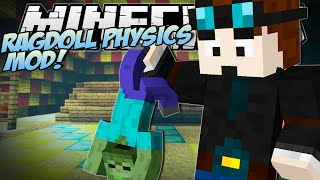 Minecraft | RAGDOLL PHYSICS MOD (Epic New Death Animation!) | Mod Showcase