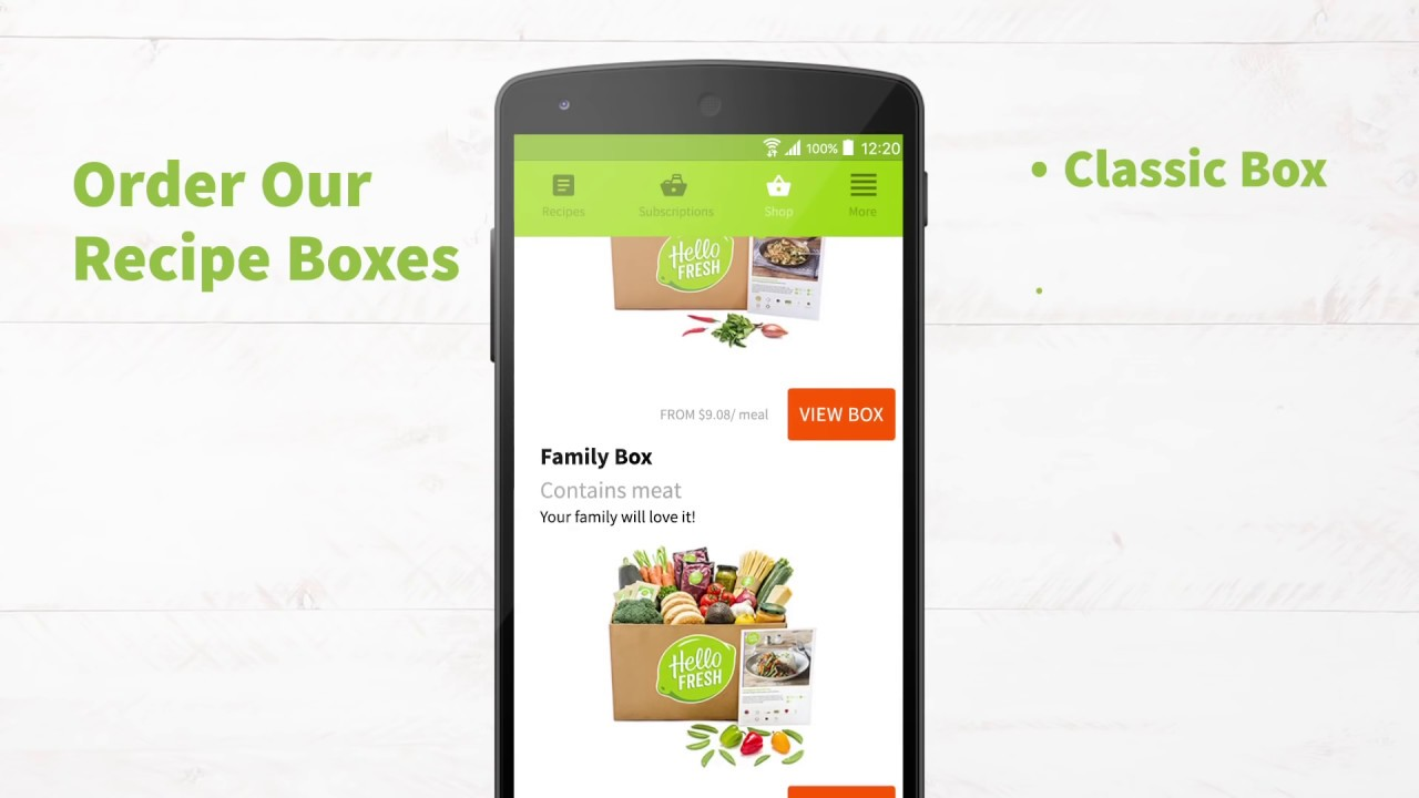 Hellofresh App Healthy Food Recipes Delivered Youtube