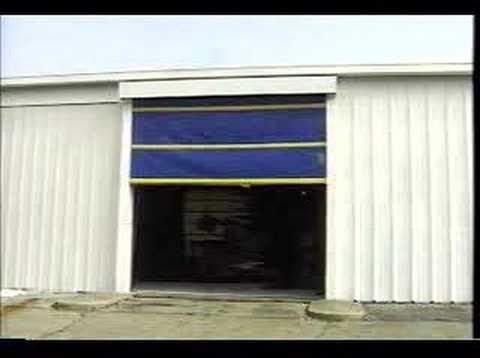Rolling Screen Door Industrial Youtube
