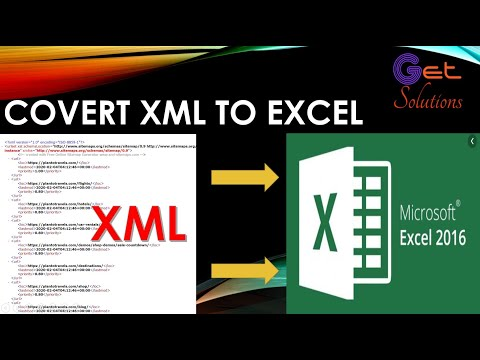 How To Convert XML File To Excel 2016 File On 30 Seconds✅