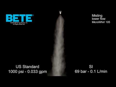 Misting Nozzles: BETE MicroWhirl 105