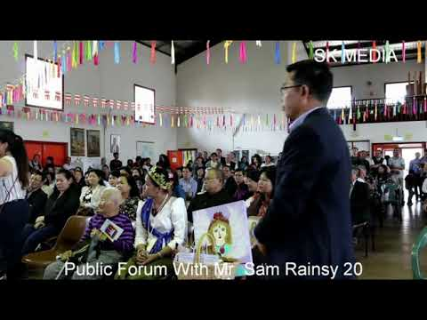SK Media Report By Mr Korb Sao At Wat Tom Public Forum With Mr  Sam Rainsy 20