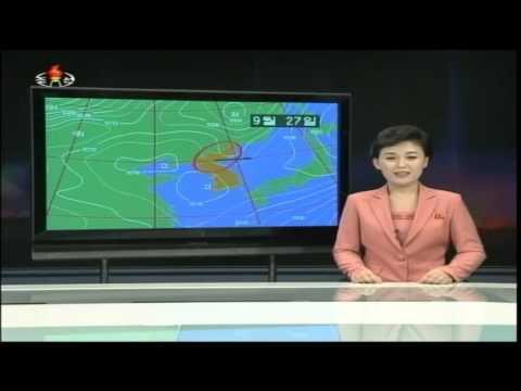 Evening news on North Korean TV, September 27 2014