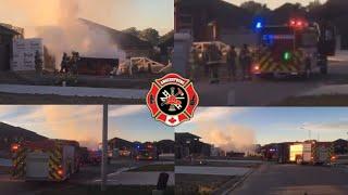 Dumpster Fire On Welsh Ave - Amherstburg Fire On Scene