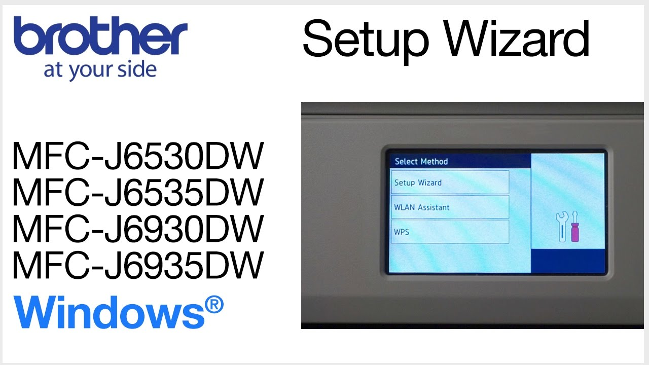 Connecting MFCJ6535DW to wireless computer with setup wizard - Windows®