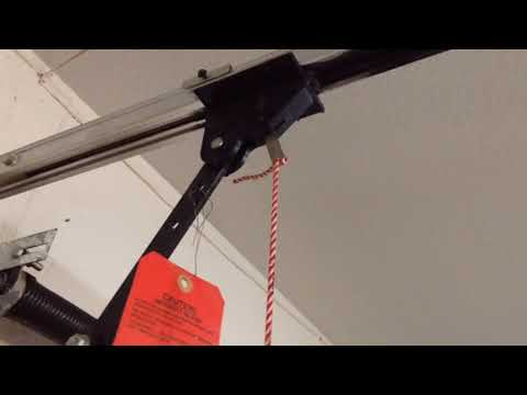 HOW FIX YOUR GARAGE DOOR OPENER ONCE YOU HAVE PULLED THE EMERGENCY RELEASE