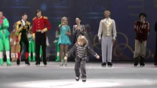 трехлетний Саша Плющенко на представлении участников.Шоу