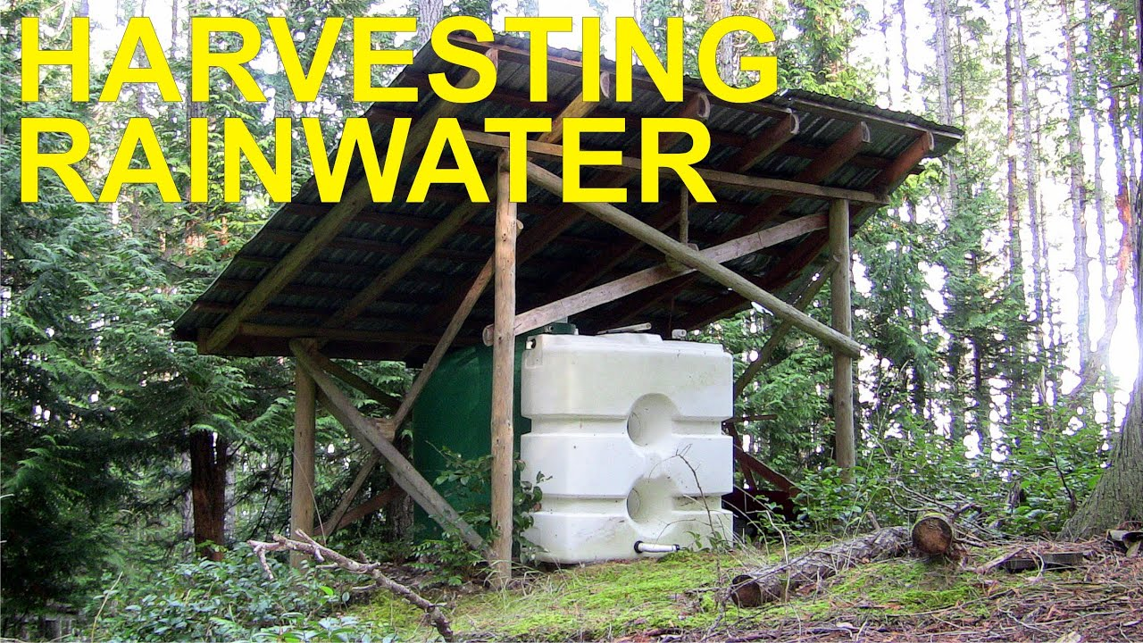Rainwater harvesting off grid youtube for How to build a rainwater collection system