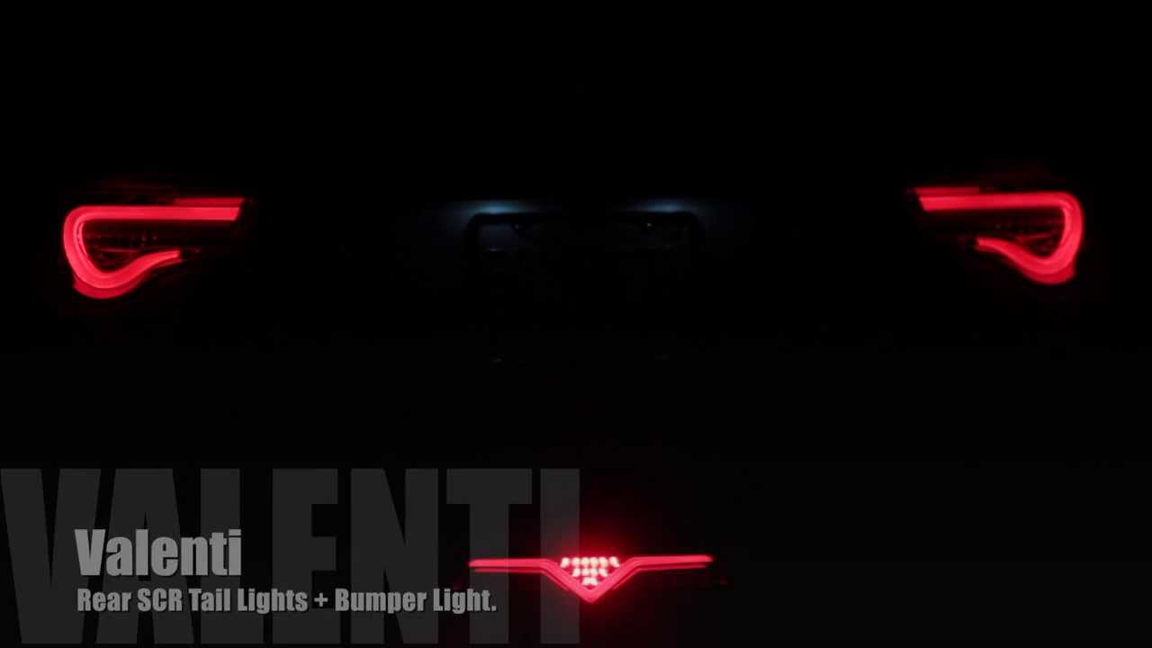 Valenti Rear Bumper + Tail Lights - FRS/BRZ/GT86 - YouTube