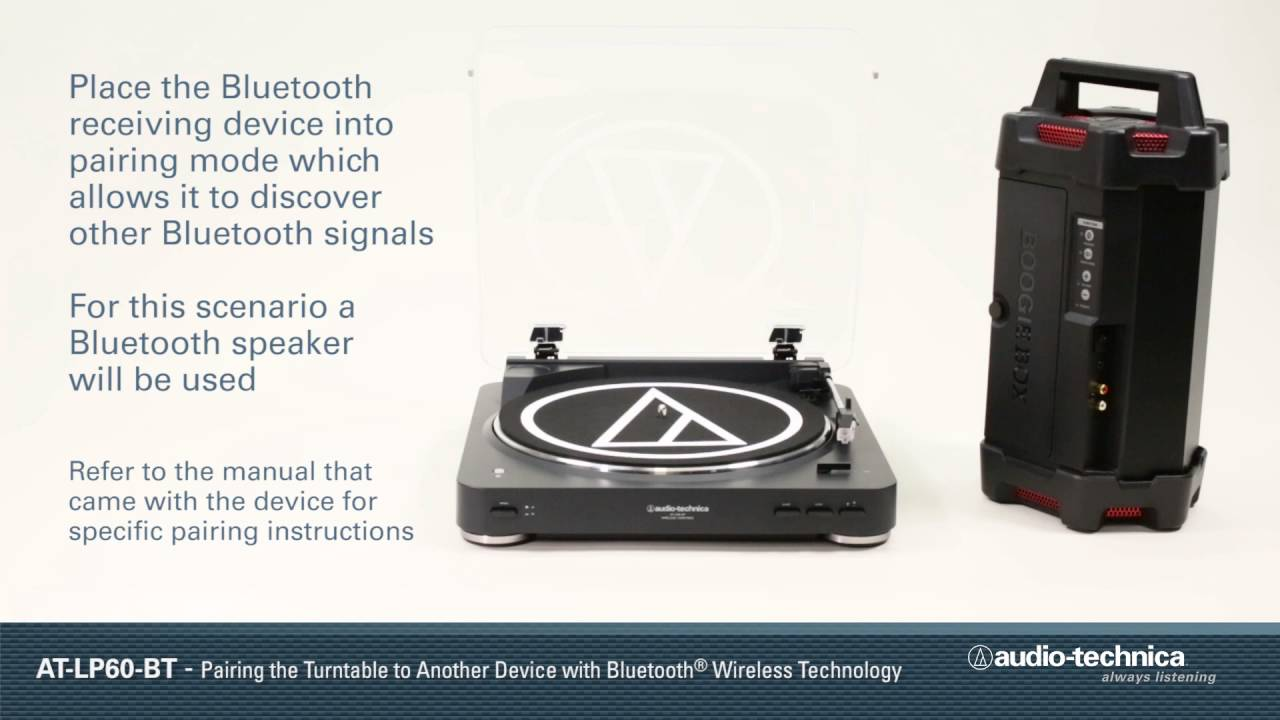 How to Pair the AT-LP60-BT Wireless Turntable to a Bluetooth® Device