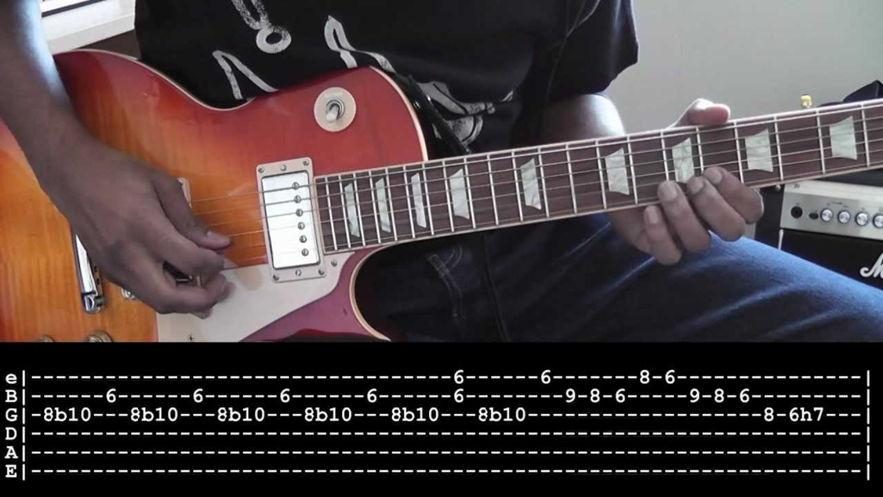 Johnny B Goode Intro Guitar Cover Tabs And Slow Motion Lesson