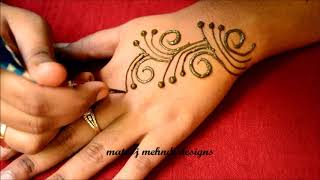 Mehndi Designs For Hands-Easy Mehndi Designs-Simple Mehndi Designs