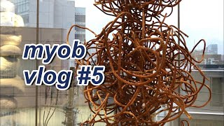 [vlog] 도쿄일상 #5 _ 과제하고 전시갔다온 일상