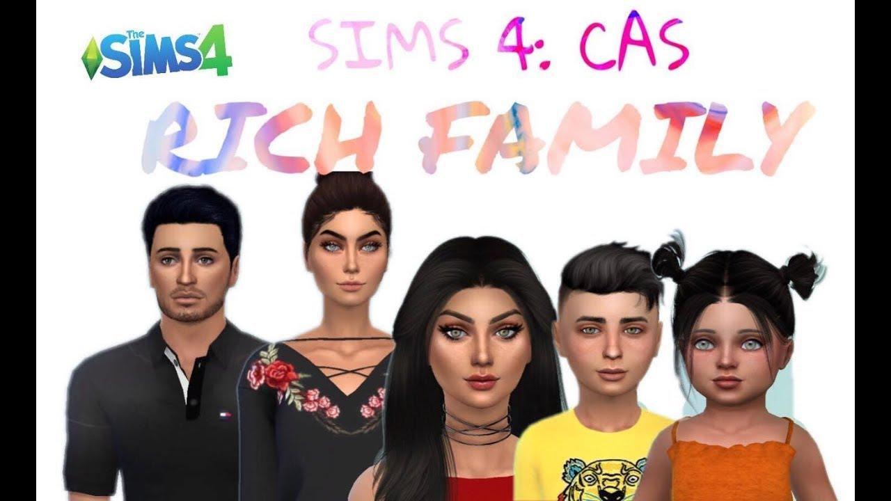 The Sims 4: Create A Sim || Rich Family