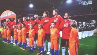 Netherlands vs Belgium International Friendly National Anthems 9/11/2016