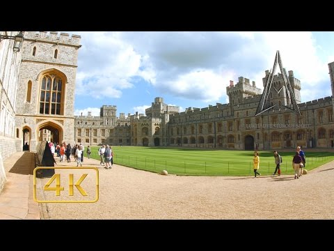 WINDSOR CASTLE & CITY in 4K | Home of her Majesty | ENGLAND