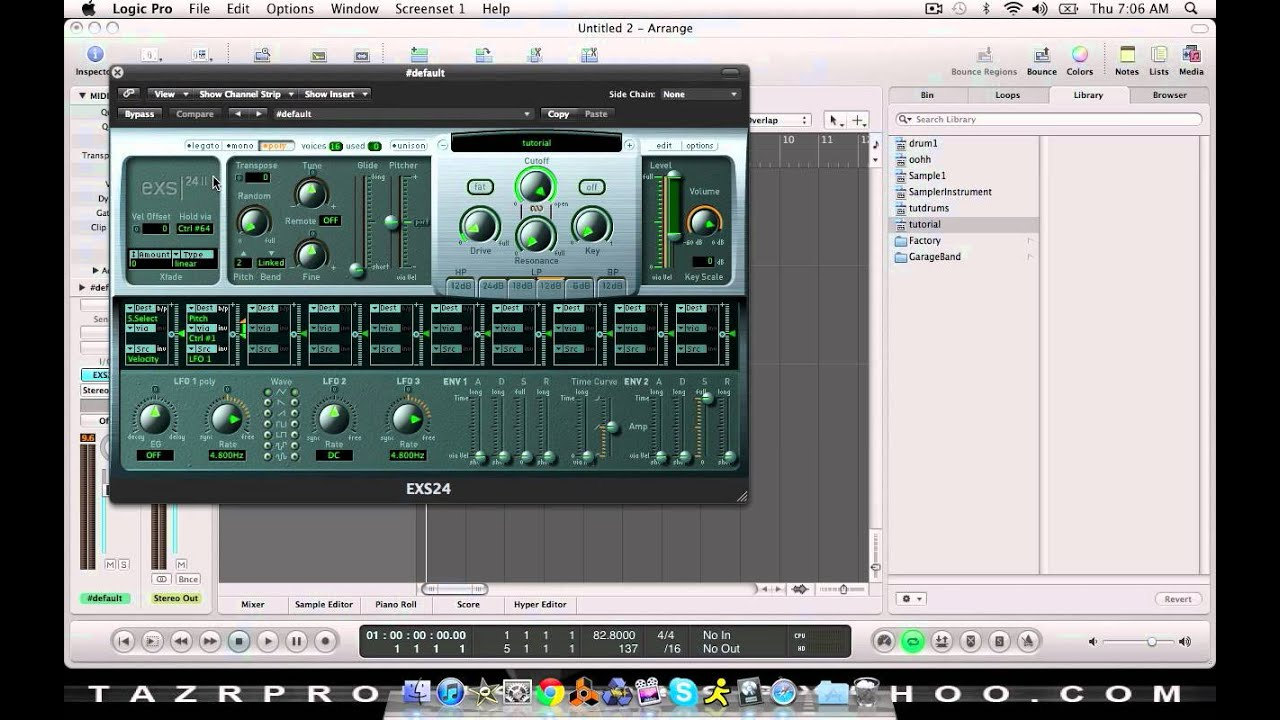 Logic for Beginners: How to sample in Logic pro 9 - YouTube
