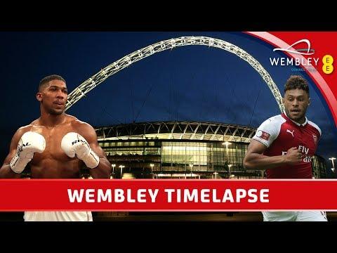 Anthony Joshua to Arsenal - Wembley Stadium Timelapse - Summer 2017