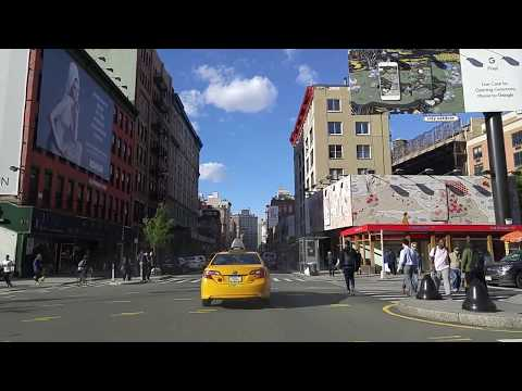 Driving from Soho to Greenwich Village in Manhattan,New York