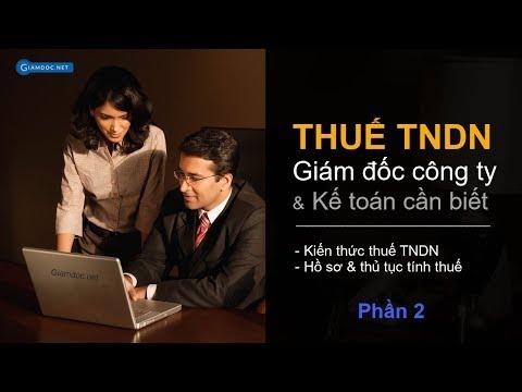 Kiến thức thuế TNDN dành cho giám đốc P2 | Giamdoc.net