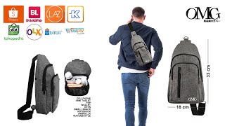 sling bag URBAN lifestyle tas selempang men women waterproof