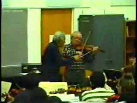 Abram Shtern & Mehli Mehta rehearse Beethoven's Romance