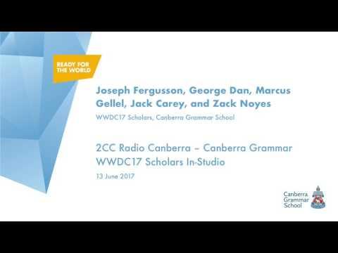 2CC Radio Canberra - Canberra Grammar WWDC17 Scholars In-Studio