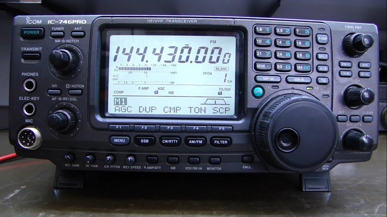 ALPHA TELECOM: ICOM IC-746PRO COM TRANSMISSÃO INTERMITENTE