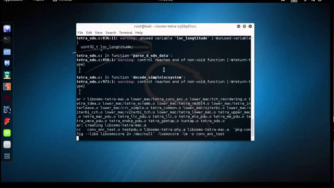 How to install and run osmocom tetra on kali-linux-2016 1 - Cvik Dasa