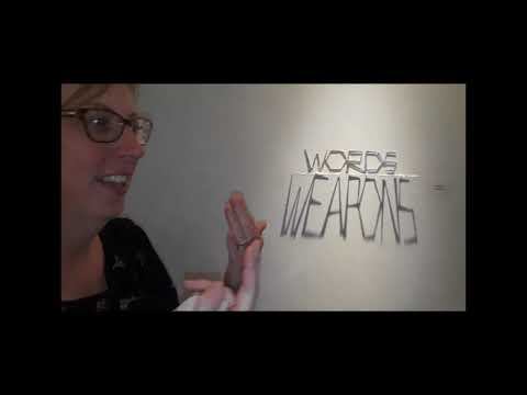 """WordWeapons WMD"" a ""Shadow Thoughts"" metal sculpture by Bradley Arthur - ©Be-Art 2004- 2018"