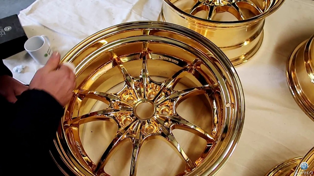 24k Gold Rims Bullet Proof 24k Gold Wax Youtube