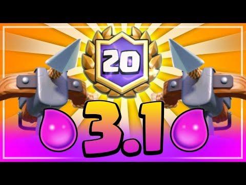 CONVERTIMOS LA BALLESTA 2.9 EN 3.1 | Mazo para desafío de 20 victorias | Clash Royale