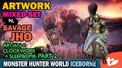 Sleep Bomb ArtWork: Artian, Clockwork Mixed Set vs. Savage Deviljho | MHW Iceborne