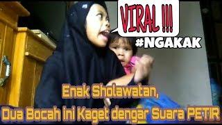 VIRAL!!! Lagi Belajar Sholawatan Lihat Ekspresi Dua Anak Kecil Yang Kaget Dengar Suara Guntur Petir