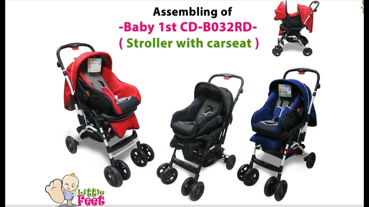 Unboxing and assembling of Baby 1st 032RD / Stroller with carseat – by Little Feet