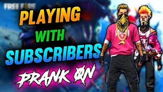 FREE FIRE LIVE     PLAYING WITH SUBSCRIBERS