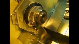"MVI_0403.AVI1-5/8"" HARDINGE CONQUEST T42 2-AXIS CNC SLANT LATHE WITH BAR FEED"