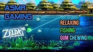 ASMR Gaming   Relaxing Fishing Gum Chewing Legend of Zelda Link's Awakening 🎮🎧Controller Sounds😴💤