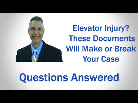 The Most Important Documents in Your FL Elevator Injury Claim | Leesburg FL Lawyer