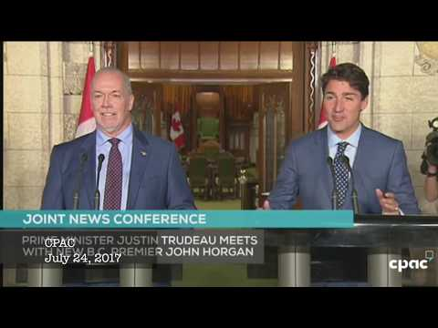 BC Premier John Horgan & Prime Minister Justin Trudeau hold joint news conference in Ottawa