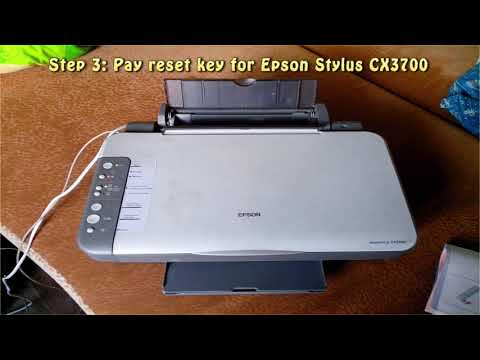 Reset Epson Stylus CX3700 Waste Ink Pad Counter