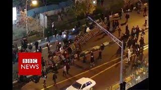 Clashes erupt in western Iran town - BBC News