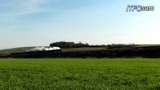 (HD) 44932 gliding past Newton St Loe (Enhanced)