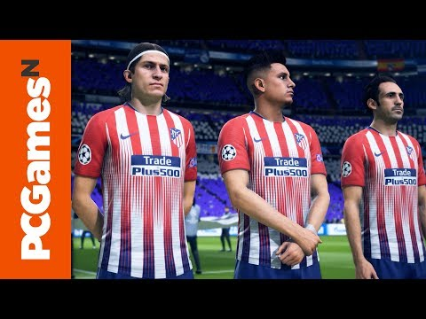 FIFA 19 PC gameplay on a GTX 1080Ti - Real Madrid vs. Atlético Madrid | Gamescom 2018