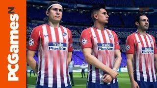 FIFA 19 PC gameplay on a GTX 1080Ti - Real Madrid vs. Atlético Madrid | Gamescom 2018