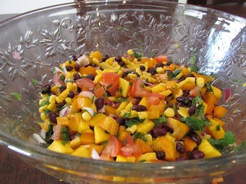 Black Bean Mango Salad Stuffed Avocados
