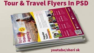 Tour \u0026 Travel Flyer Templates Download  N PSD Files English Photoshop Tutorial